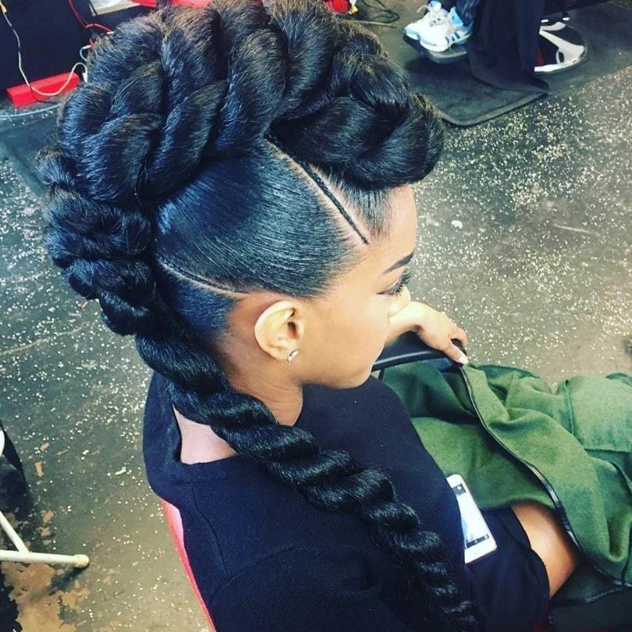 Most Recently Released Twist Braided Mohawk Hairstyles Intended For 3 Best Braided Mohawk Hairstyles For Natural Hair In (View 14 of 20)