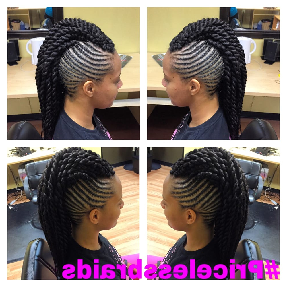 Most Recently Released Twisted Braids Mohawk Hairstyles With Mohawk Braids With Twist (View 13 of 20)