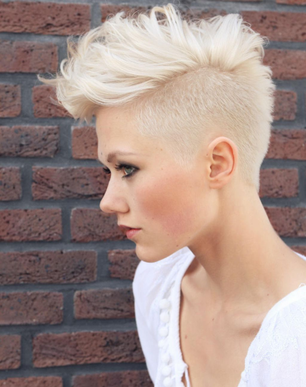 Most Up To Date Classic Blonde Mohawk Hairstyles For Women For Medium Hairstyles To Make You Look Younger (View 15 of 20)