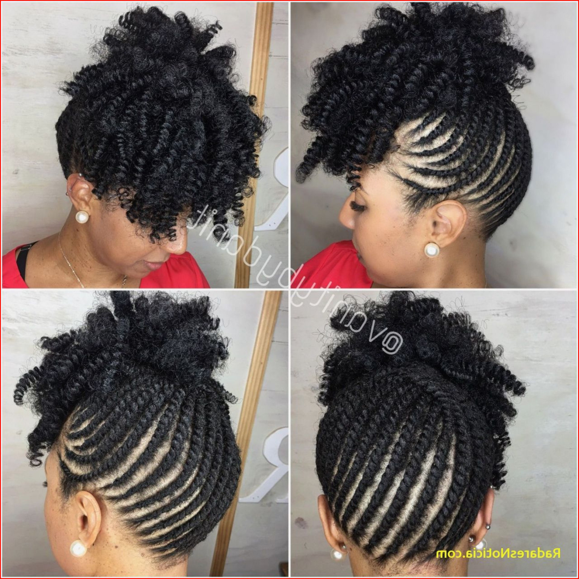 New Black Natural Braids Hairstyles Collection Of Braided In Current Faux Mohawk Hairstyles With Natural Tresses (View 15 of 20)