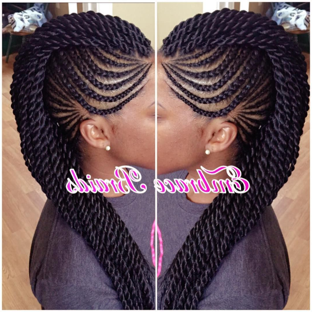 Newest Full Braided Mohawk Hairstyles Intended For Mohawk ❤️ #braids #mohawk #braidedmohawk #scalpbraids (View 2 of 20)