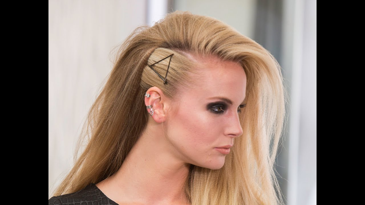 Newest Teased Long Hair Mohawk Hairstyles In Tutorial: Voluminous Rocker Glam Crimped Hairstyle (View 14 of 20)