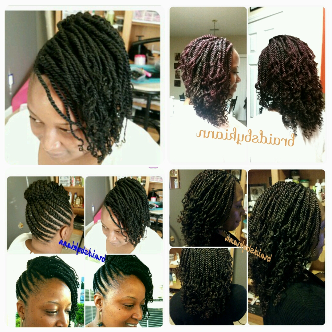 Newest Twisted And Braided Mohawk Hairstyles Regarding Senegalese Twist, Mohawk Styles, Kinky Twist, Ghana Cornrows (View 13 of 20)