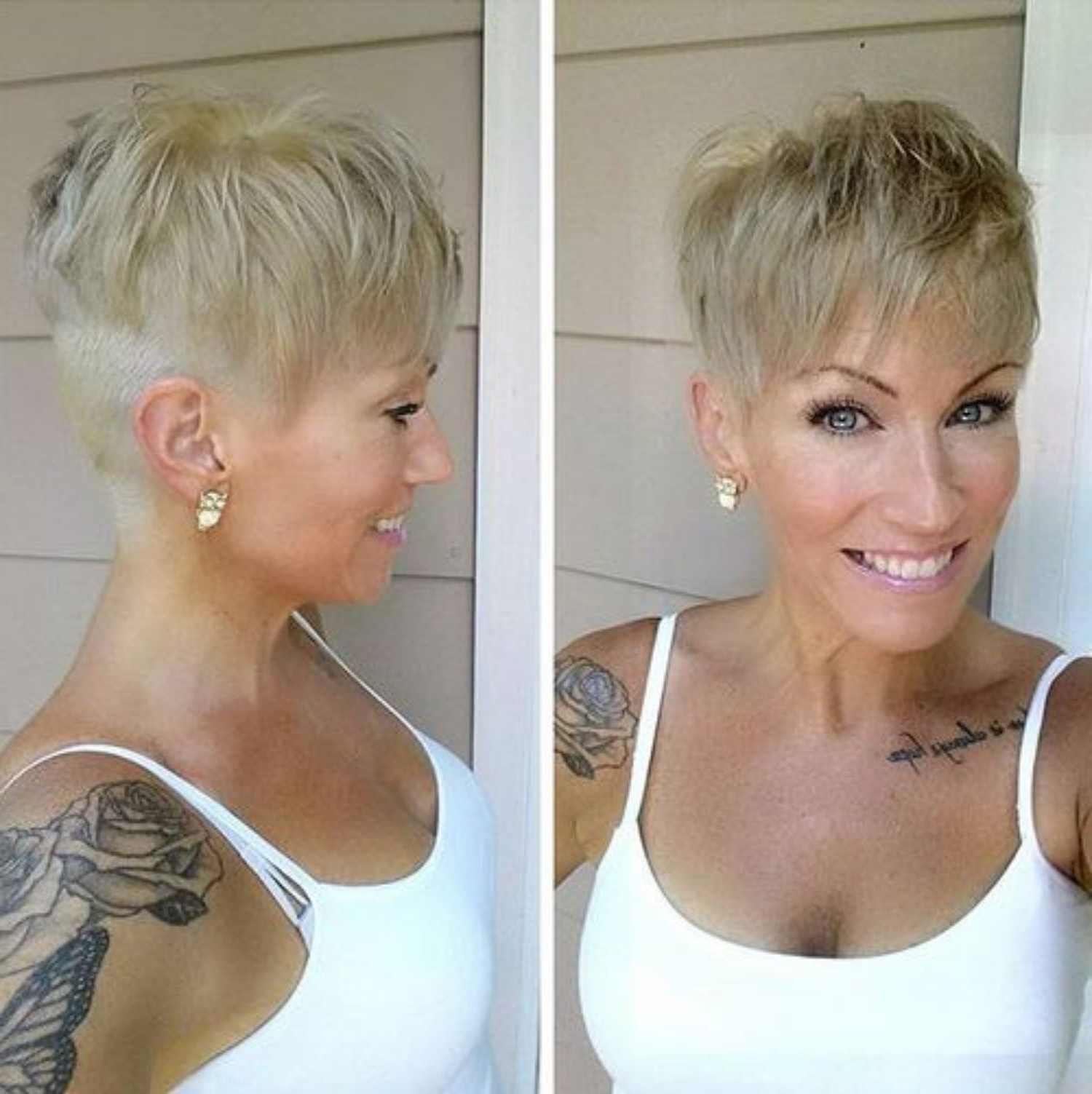 Pin On Cute Hair Styles Inside Blonde Pixie Haircuts With Curly Bangs (View 5 of 20)
