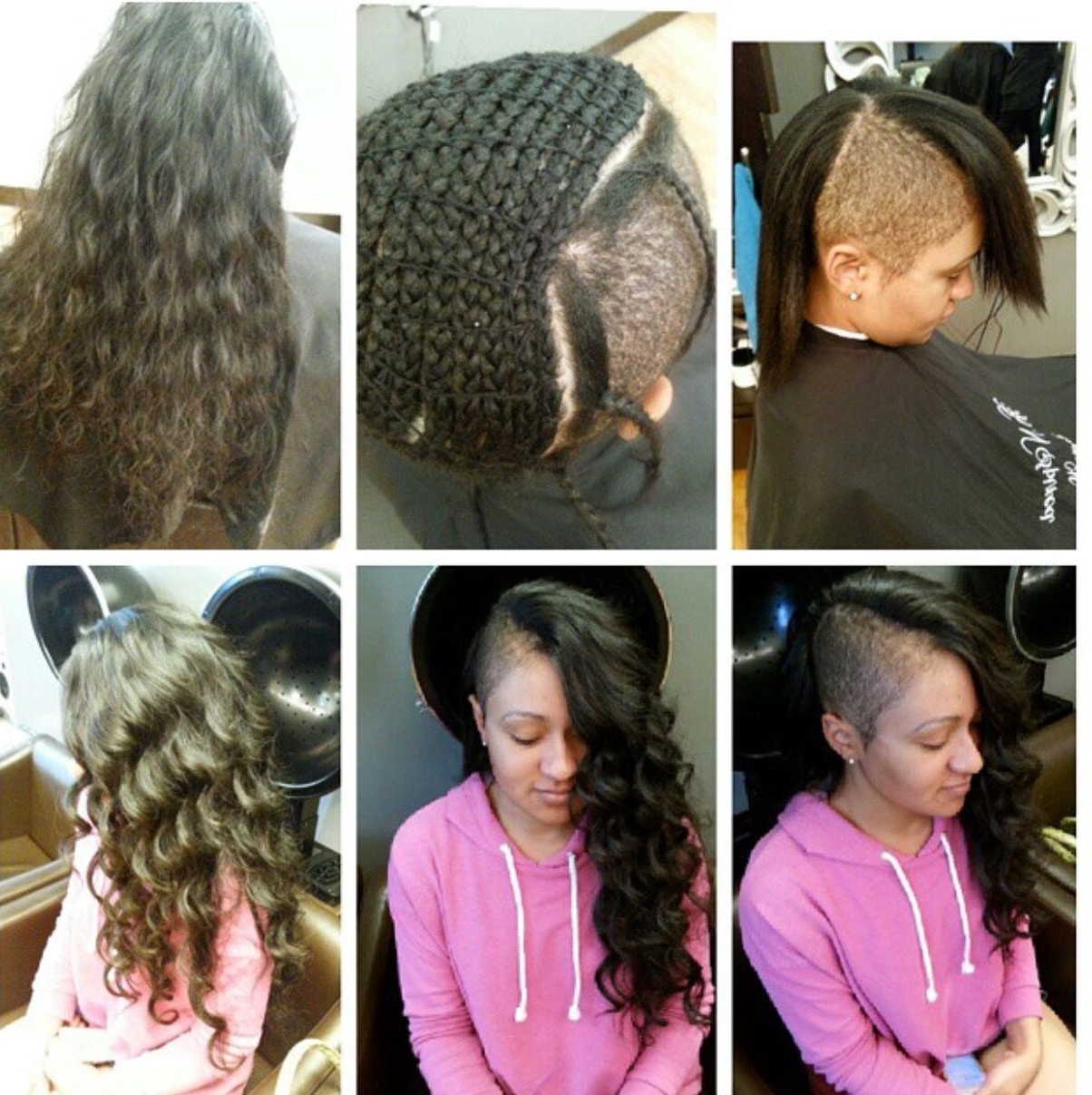 Pin On Extensions/weaves Inside Most Current Side Shaved Long Hair Mohawk Hairstyles (View 10 of 20)