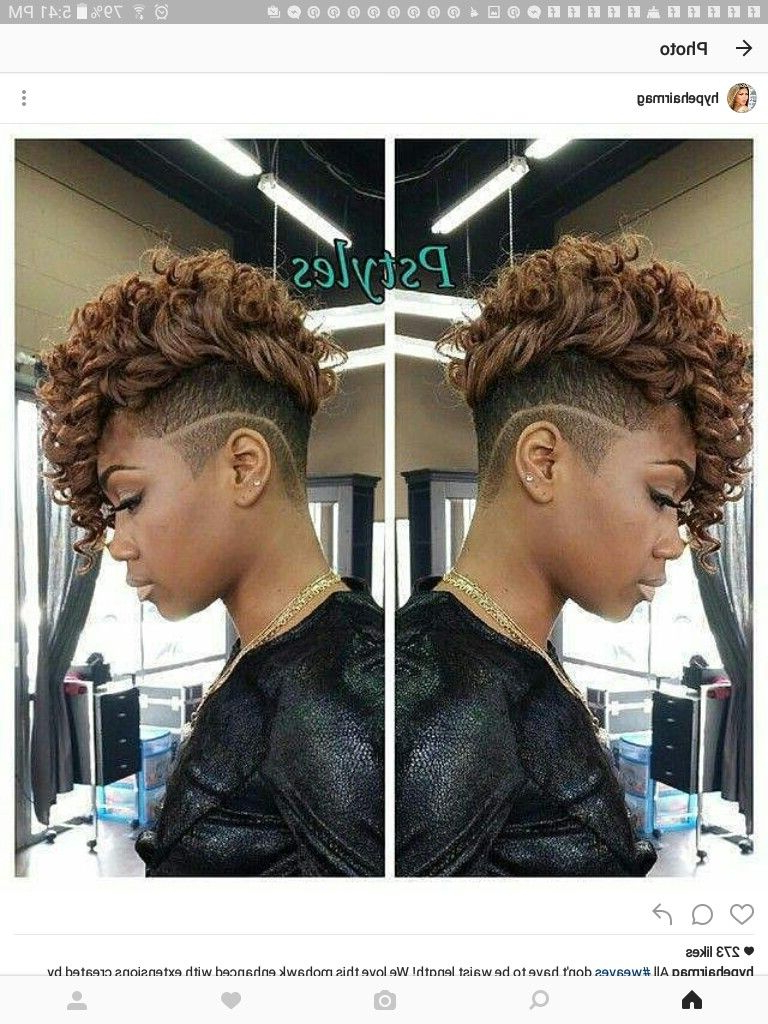 Pin On Hair / Styles & Color ♡ Throughout Recent Shaved And Colored Mohawk Haircuts (Gallery 2 of 20)