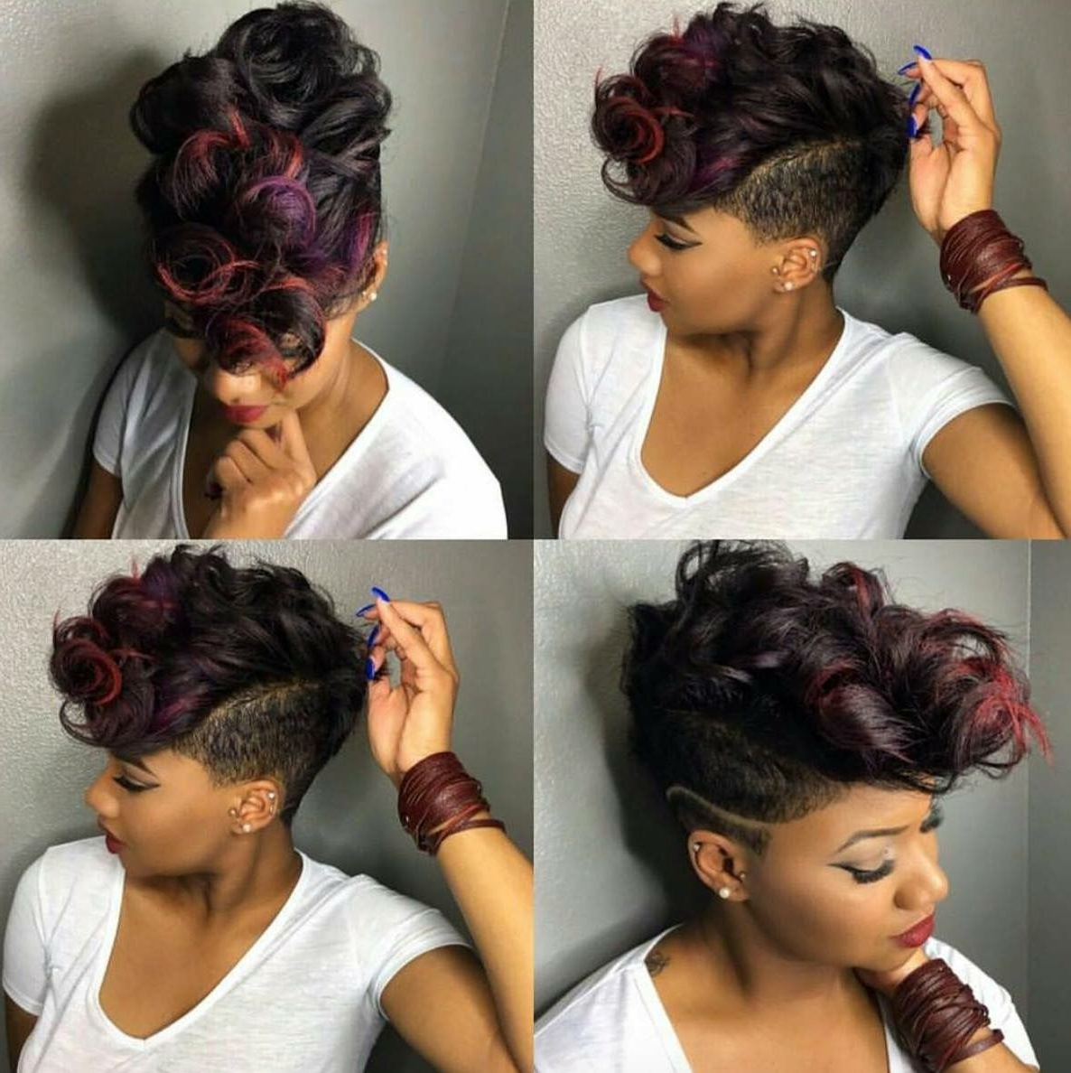 Pin On Hair Styles With Regard To Newest Color Treated Mohawk Hairstyles (Gallery 8 of 20)
