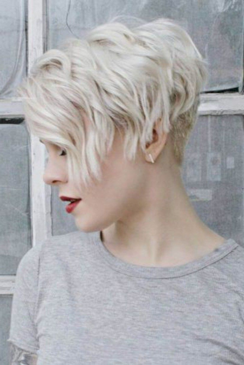 Pin On Short Hair In Blonde Pixie Haircuts With Curly Bangs (Gallery 1 of 20)