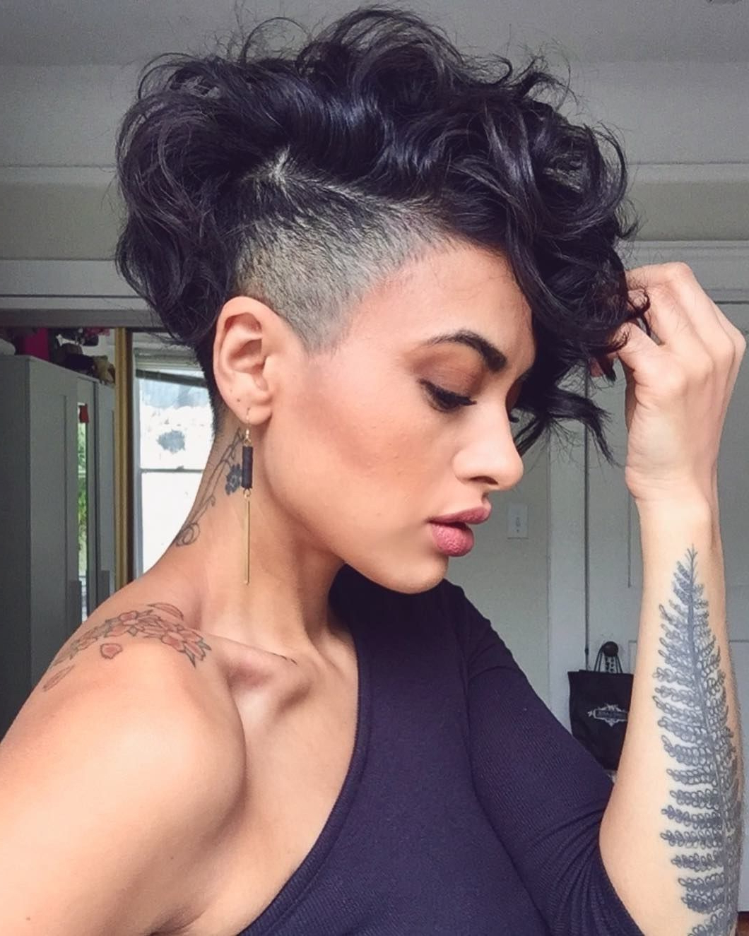 Pin On Short Hairstyle Within Pixie Haircuts With Bangs And Loose Curls (Gallery 7 of 20)