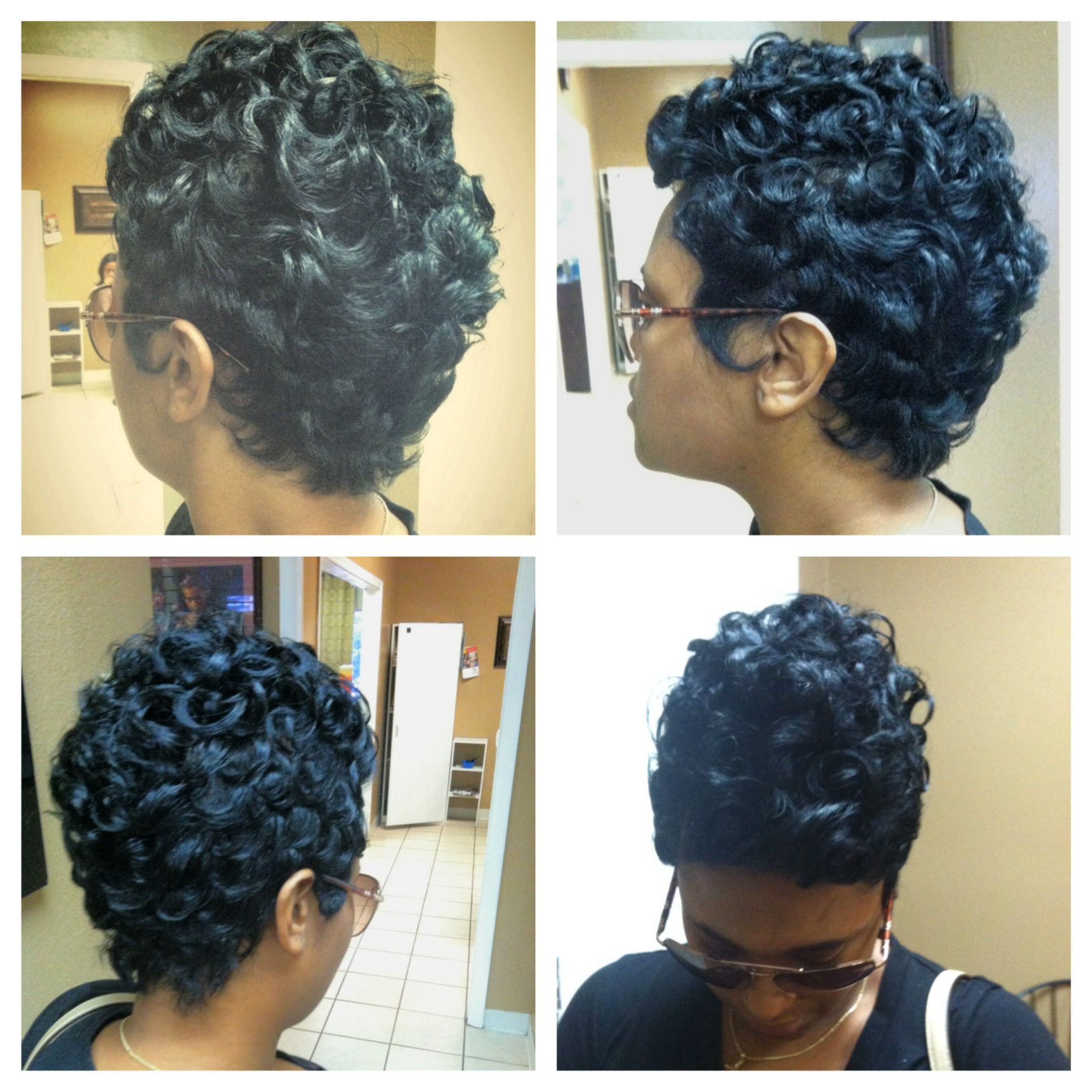 Pin On Short Styles And Quick Weaves Throughout Pixie Haircuts With Tight Curls (Gallery 7 of 20)
