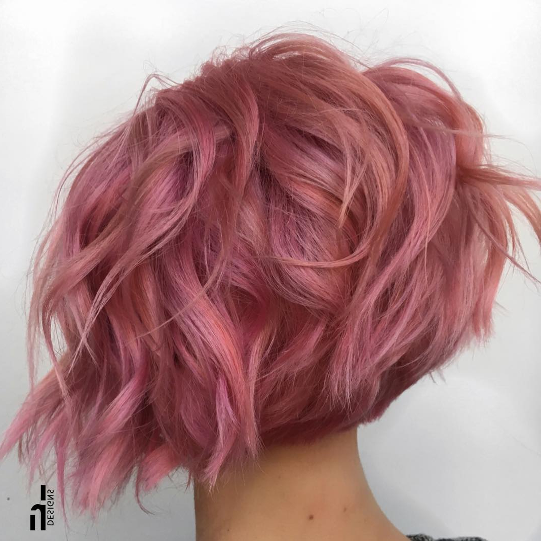 Pink Hairstyles 2018 – Fashion Dresses With Pink Bob Haircuts (View 17 of 20)