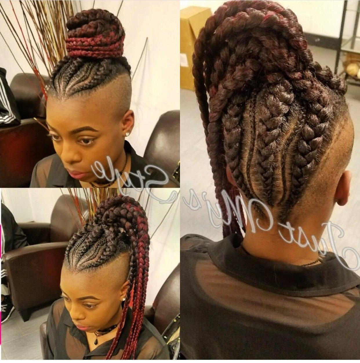 Pinteshia Miller On Bonus Beauty Is Your Hair Do Within Widely Used Big Braid Mohawk Hairstyles (View 4 of 20)