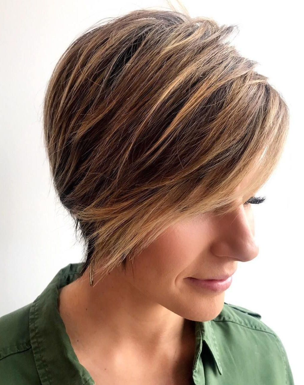 Pixie Haircuts With Bangs – 50 Terrific Tapers | Hair Styles Within Curly Pixie Haircuts With Highlights (View 6 of 20)