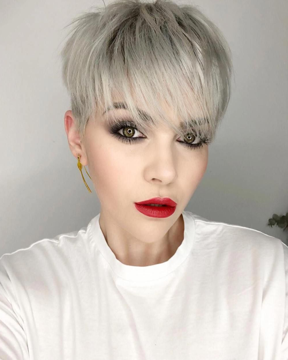 Pixie Haircuts With Bangs – 50 Terrific Tapers In 2019 With Blonde Pixie Haircuts With Curly Bangs (Gallery 3 of 20)