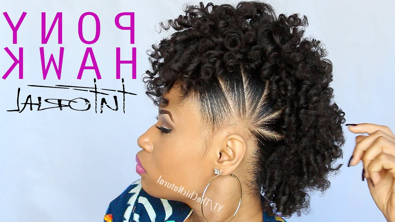 Preferred Blonde Teased Mohawk Hairstyles Within Frohawk Hairstyle: An Popular Mohawk Derivative For Curly Girls (View 15 of 20)