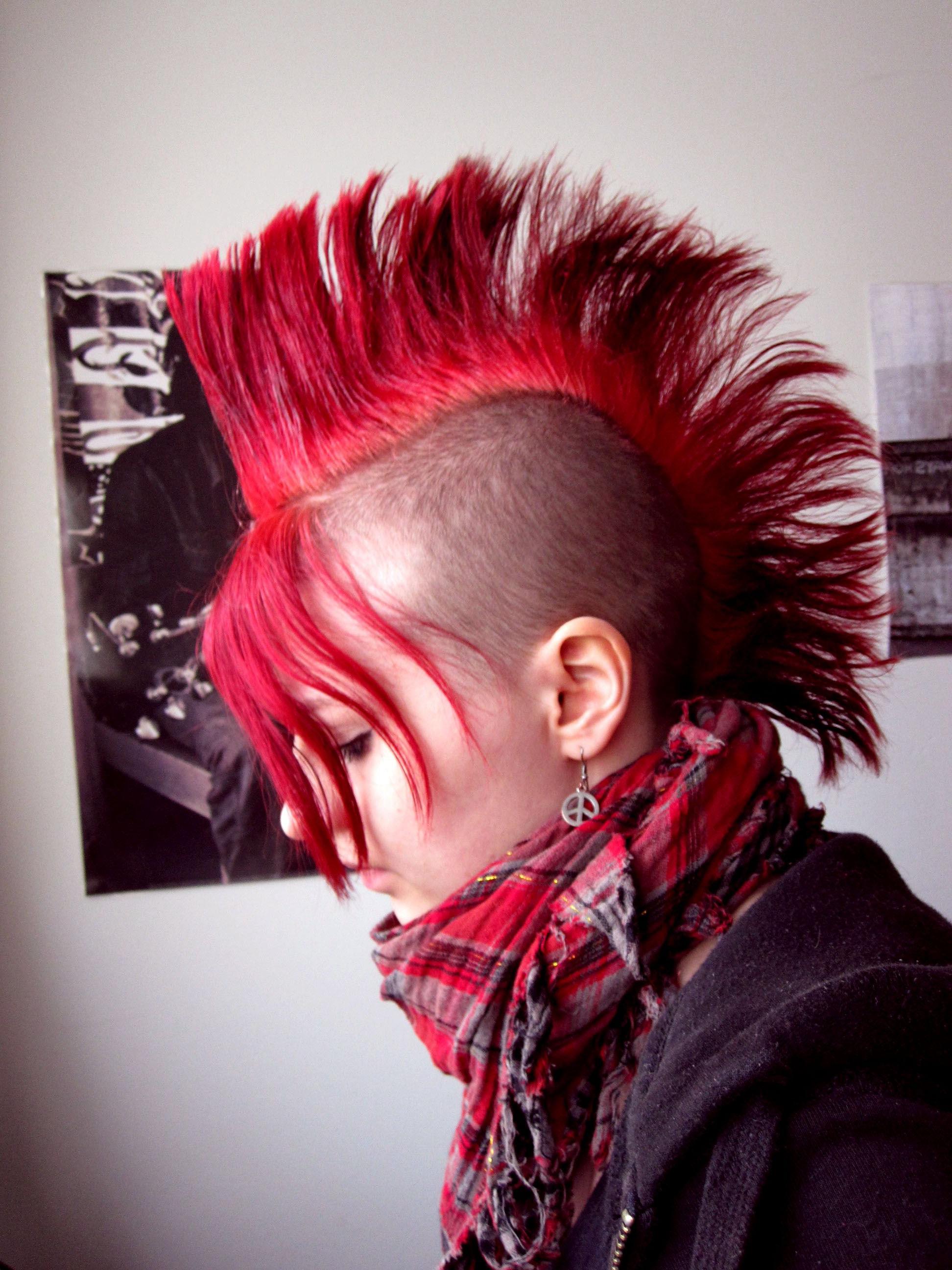 Punk Mohawk, Mohawk In Famous Rocker Girl Mohawk Hairstyles (View 4 of 20)