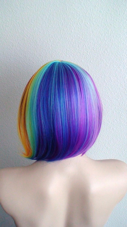 Rainbow Wig. Short Rainbow Cosplay Wig (View 10 of 20)