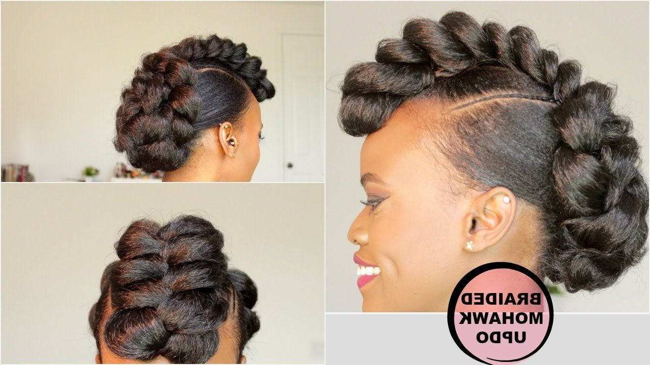 [%Recent Braided Mohawk Bun Hairstyles Inside Braided Mohawk Style Updo [Natural Hair Tutorial] | Natural|Braided Mohawk Style Updo [Natural Hair Tutorial] | Natural Inside Most Recently Released Braided Mohawk Bun Hairstyles%] (View 5 of 20)
