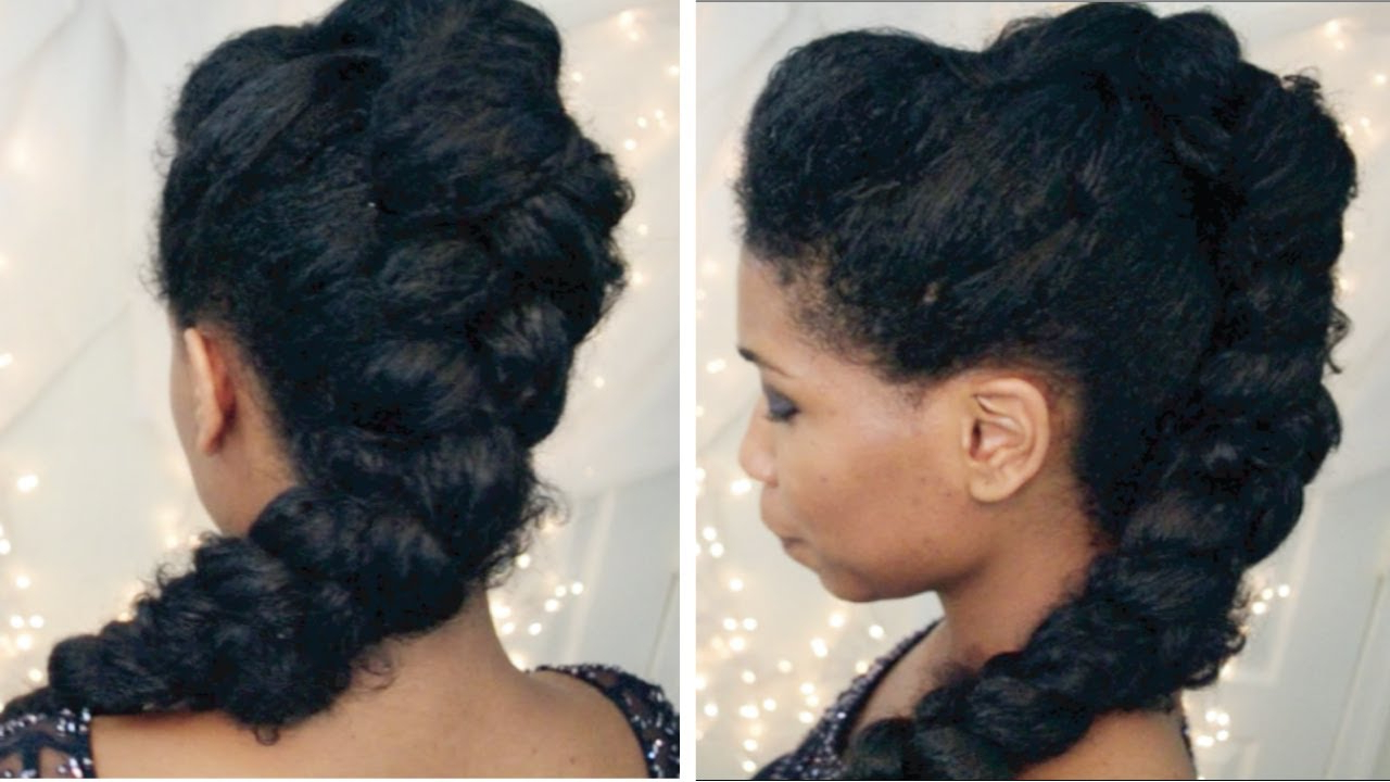 Recent Fierce Mohawk Hairstyles With Curly Hair For Braided Mohawk Fancy Updo – African American Hairstyle (View 18 of 20)