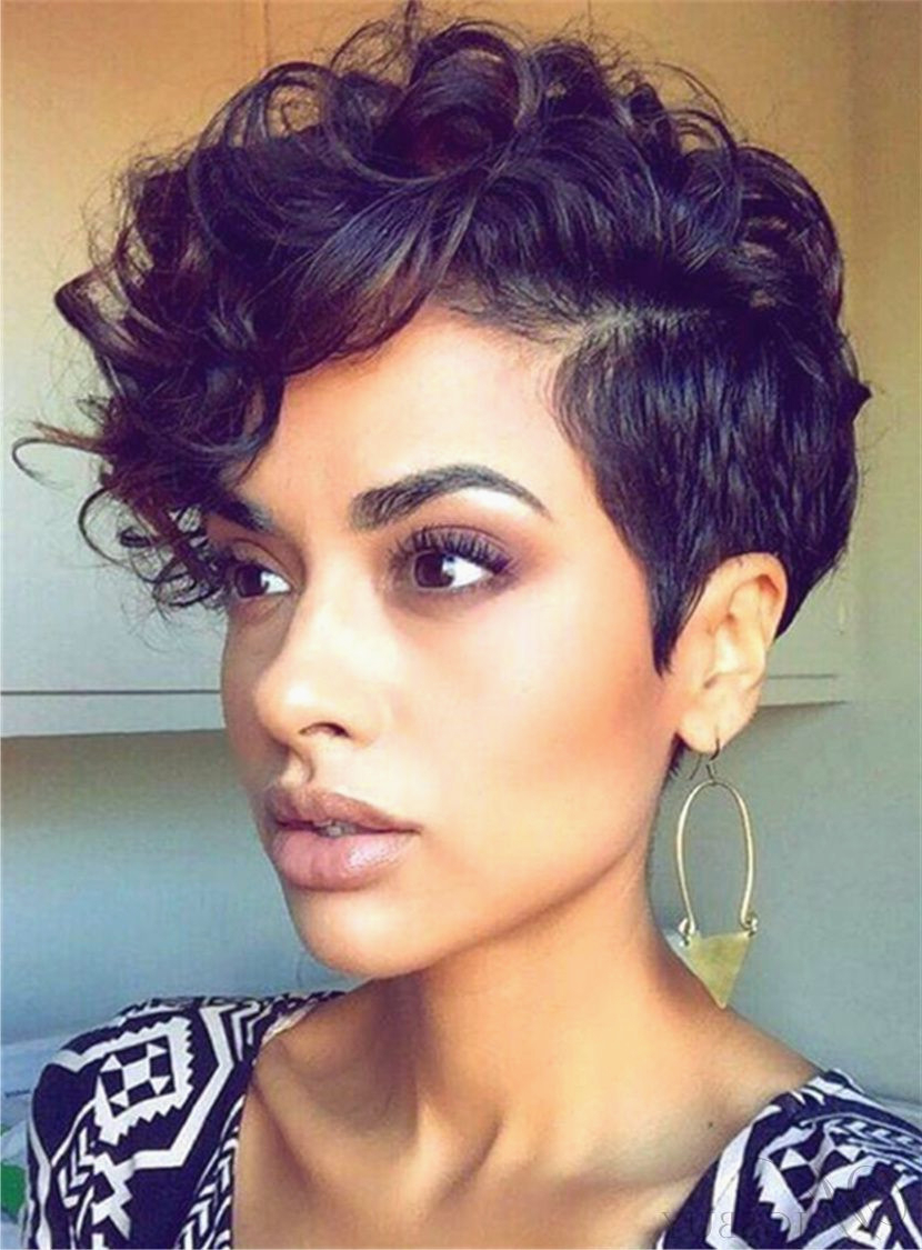 Roller Set Hairstyles Inspirational Styles For Relaxed Hair With Regard To Short Pixie Haircuts With Relaxed Curls (View 7 of 20)