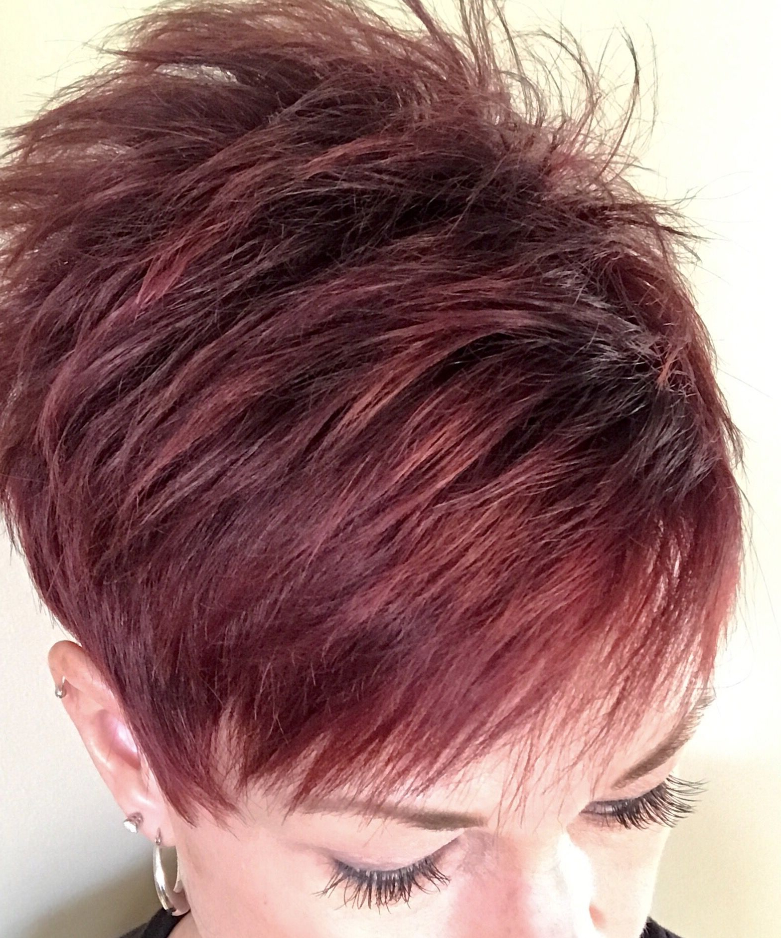 Short Hair Red In 2019 | Short Red Hair, Burgandy Short Hair Within Edgy Red Hairstyles (View 6 of 20)