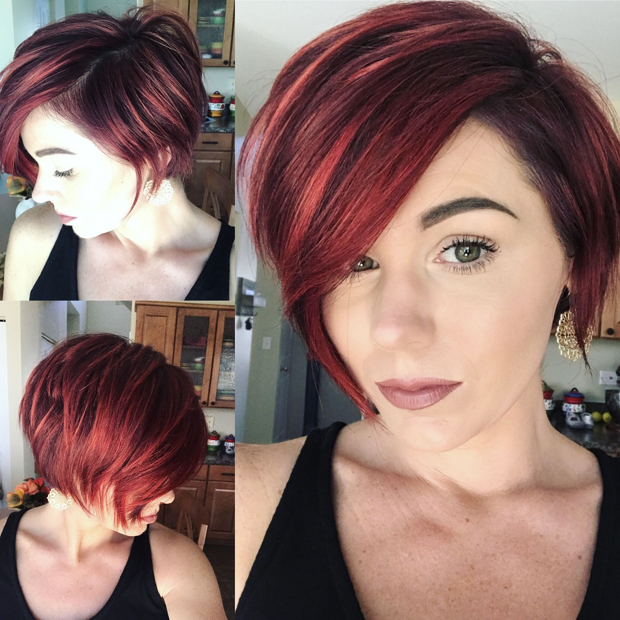 Shorthair #bob #pixie #redhair | Hair | Short Hair Styles Pertaining To Edgy Red Hairstyles (View 5 of 20)