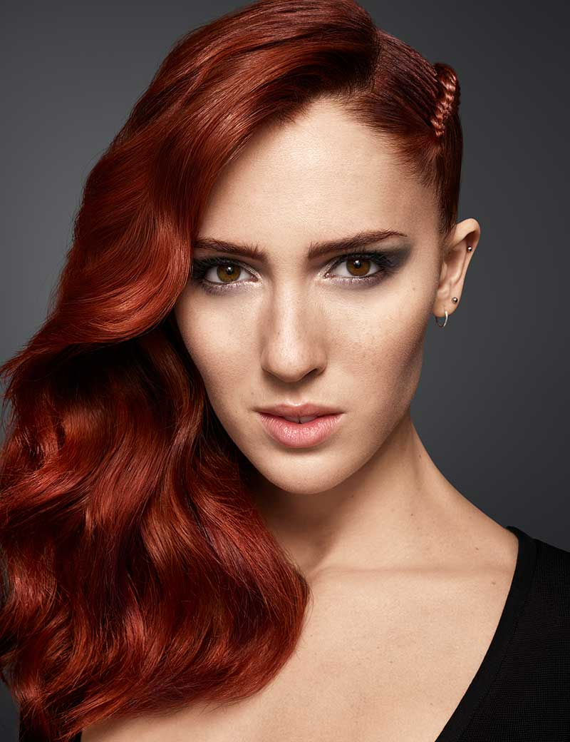 Shoulder Length Medium Hairstyle Trends & Inspiration For Pertaining To Edgy Red Hairstyles (View 12 of 20)