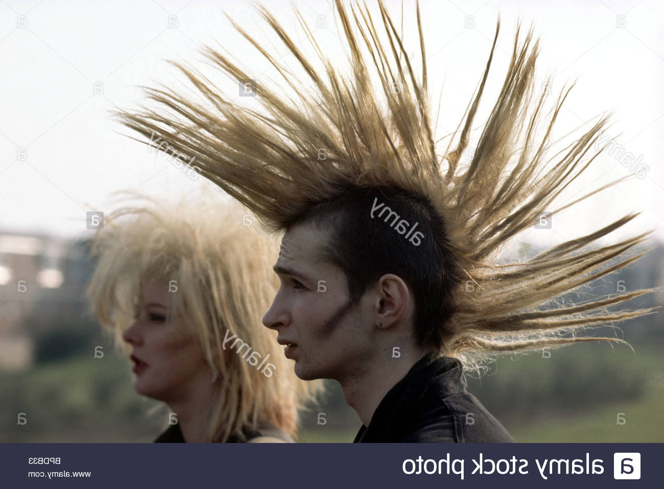 Teased Hair Stock Photos & Teased Hair Stock Images – Alamy In Latest Teased Long Hair Mohawk Hairstyles (View 18 of 20)