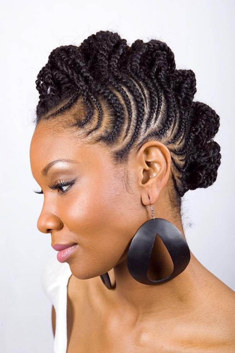 The Best African Braid Hairstyles – Viewkick Intended For Most Popular Fully Braided Mohawk Hairstyles (View 18 of 20)