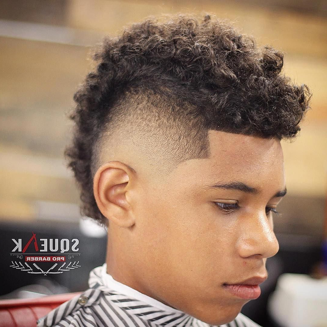 The Best Haircuts For Black Boys #barbershophaircuts Regarding Latest Messy Curly Mohawk Haircuts (View 4 of 20)