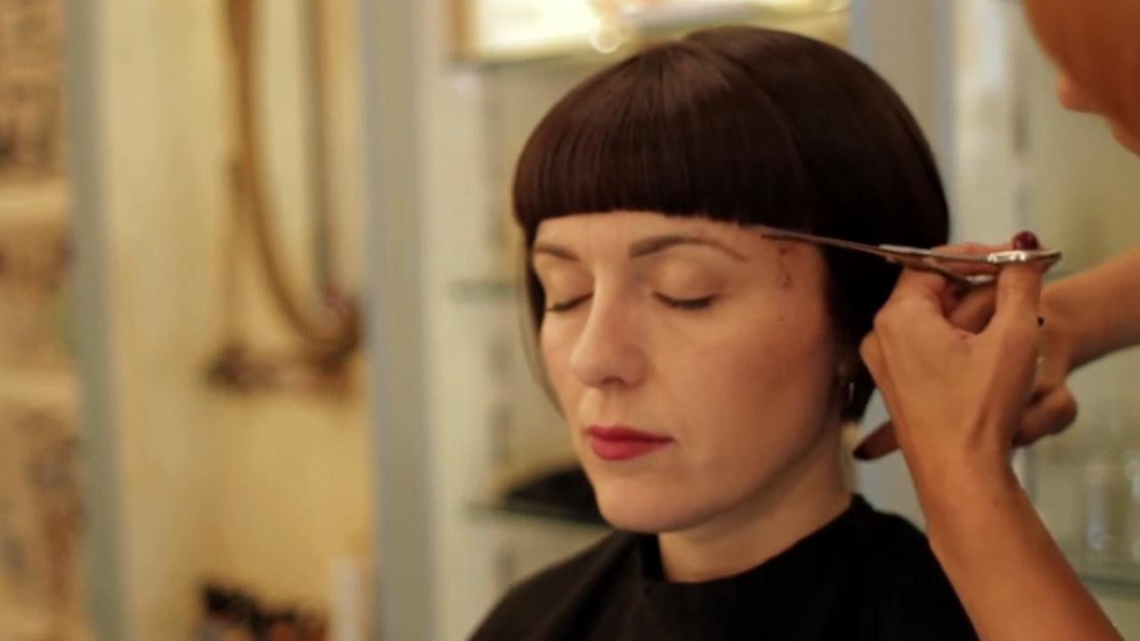 The Bob Haircut ( A Short Bangs ) Intended For Hort Bob Haircuts With Bangs (View 15 of 20)