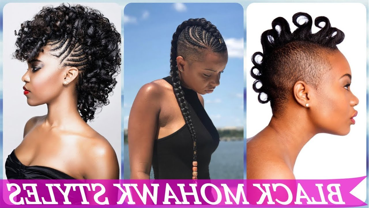 Top 20 🌹 🌹 🌹 Mohawk Hairstyles For Black Women 2019 With Regard To Most Recent Fancy Mohawk Haircuts (View 18 of 20)