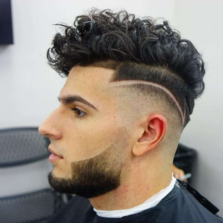 Top 50 Comb Over Fade Haircuts For Guys (2019 Hot Picks} Intended For Fashionable Mohawk Haircuts On Curls With Parting (View 10 of 20)
