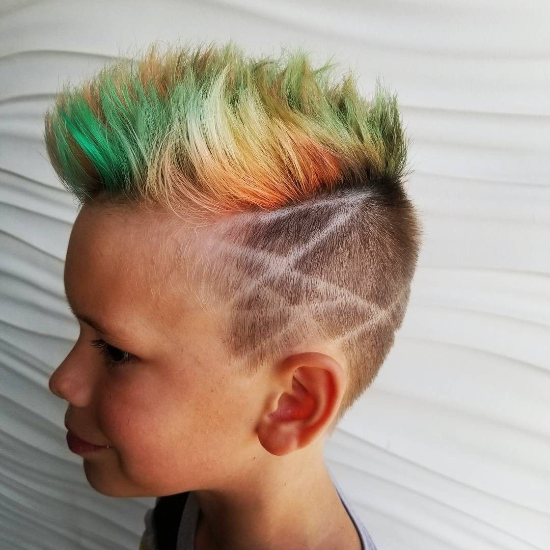 Trendy Blue Hair Mohawk Hairstyles Inside Shawnacausey Bright Red Green Blue Hair Color For Boys Short (View 20 of 20)