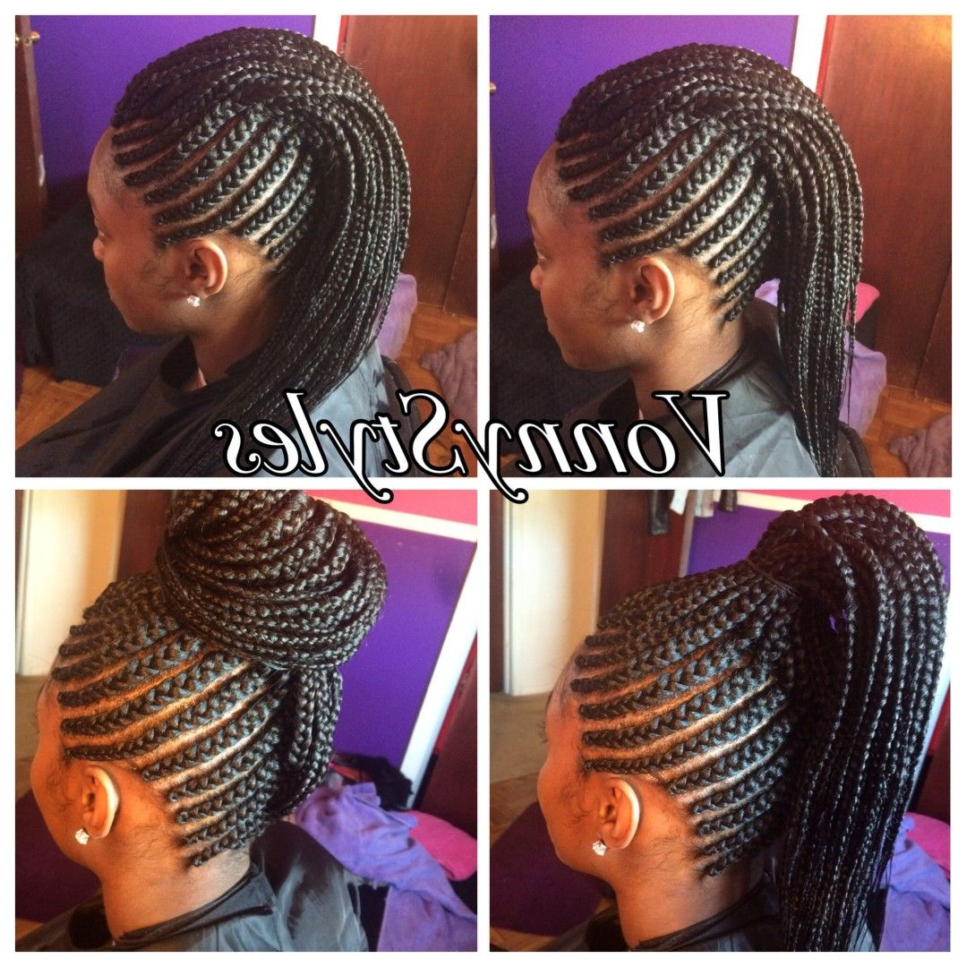 Trendy Center Braid Mohawk Hairstyles Throughout Versatile Braided Mohawk (View 9 of 20)