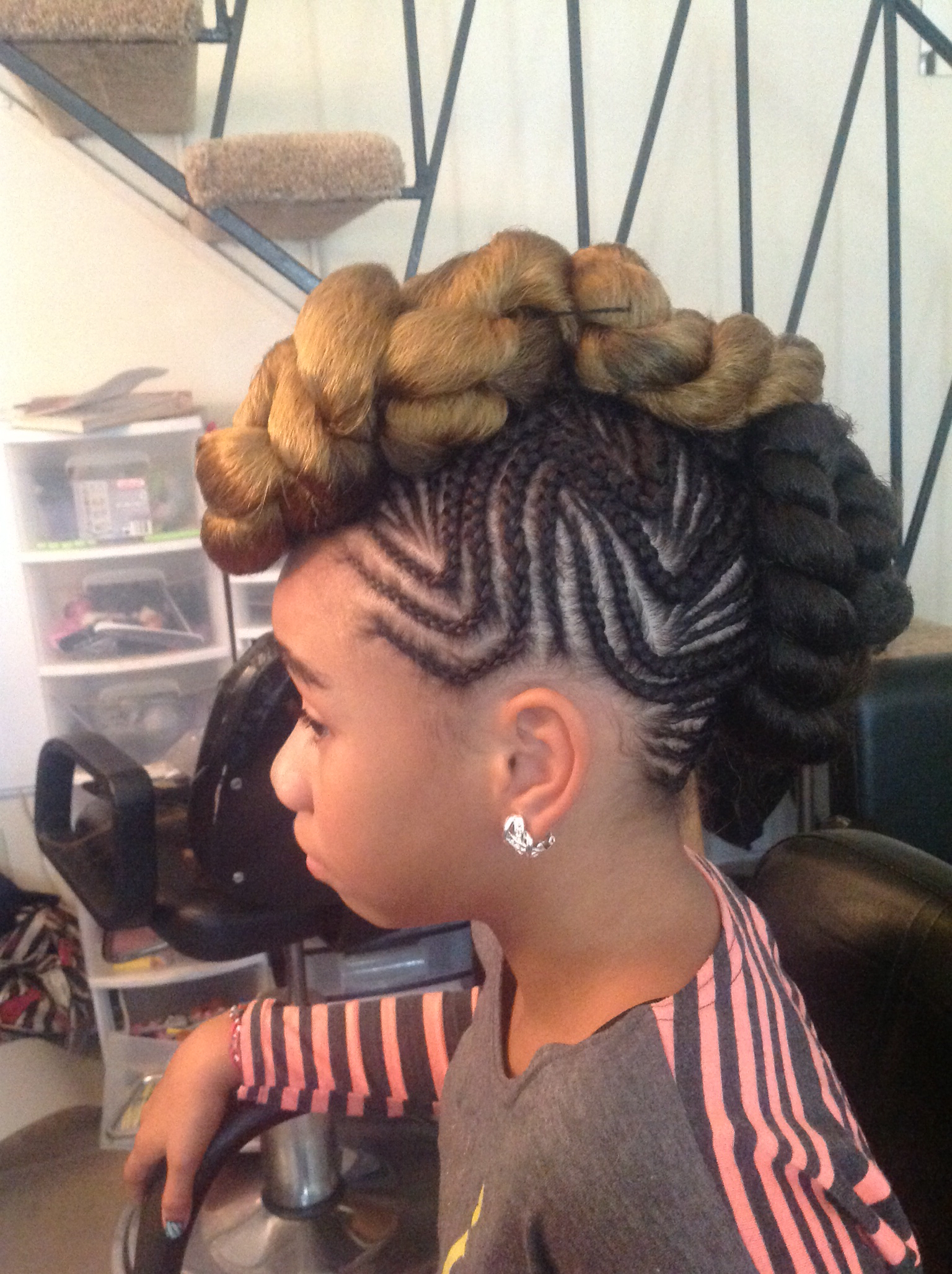 Trendy Mohawk Hairstyles With Pulled Up Sides Inside 15 Foremost Braided Mohawk Hairstyles – Mohawk With Braids (View 17 of 20)