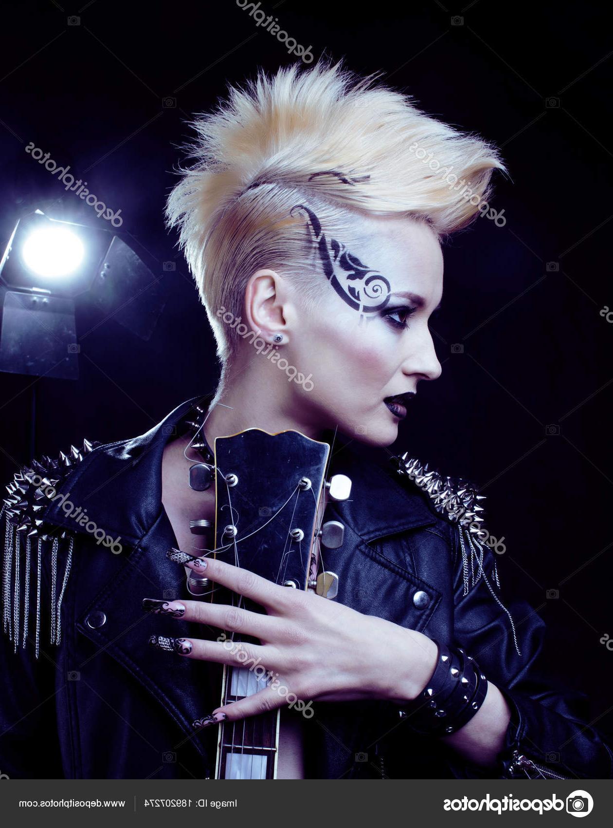 Trendy Rocker Girl Mohawk Hairstyles In Fashion Rocker Style Model Girl Portrait. Hairstyle (View 10 of 20)