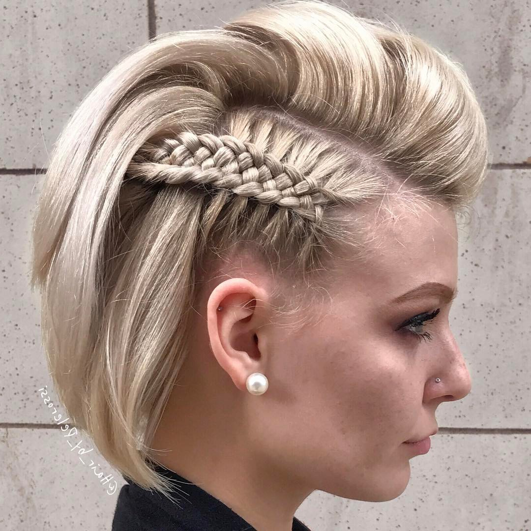 Trendy Updos For Short Hair: From Casual To Special Occasions Inside Latest Punk Mohawk Updo Hairstyles (View 9 of 20)