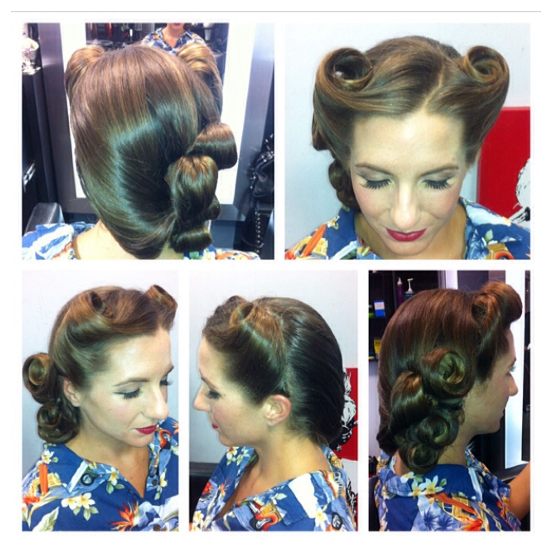 Trendy Victory Roll Mohawk Hairstyles Inside Vintage Hairstyle Vintage Updo Restro Hairstyle 50S Hair (View 18 of 20)