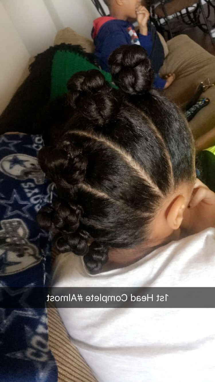 Well Known Braided Bantu Knots Mohawk Hairstyles Within Pin On Hair Styles For Kids (View 7 of 20)