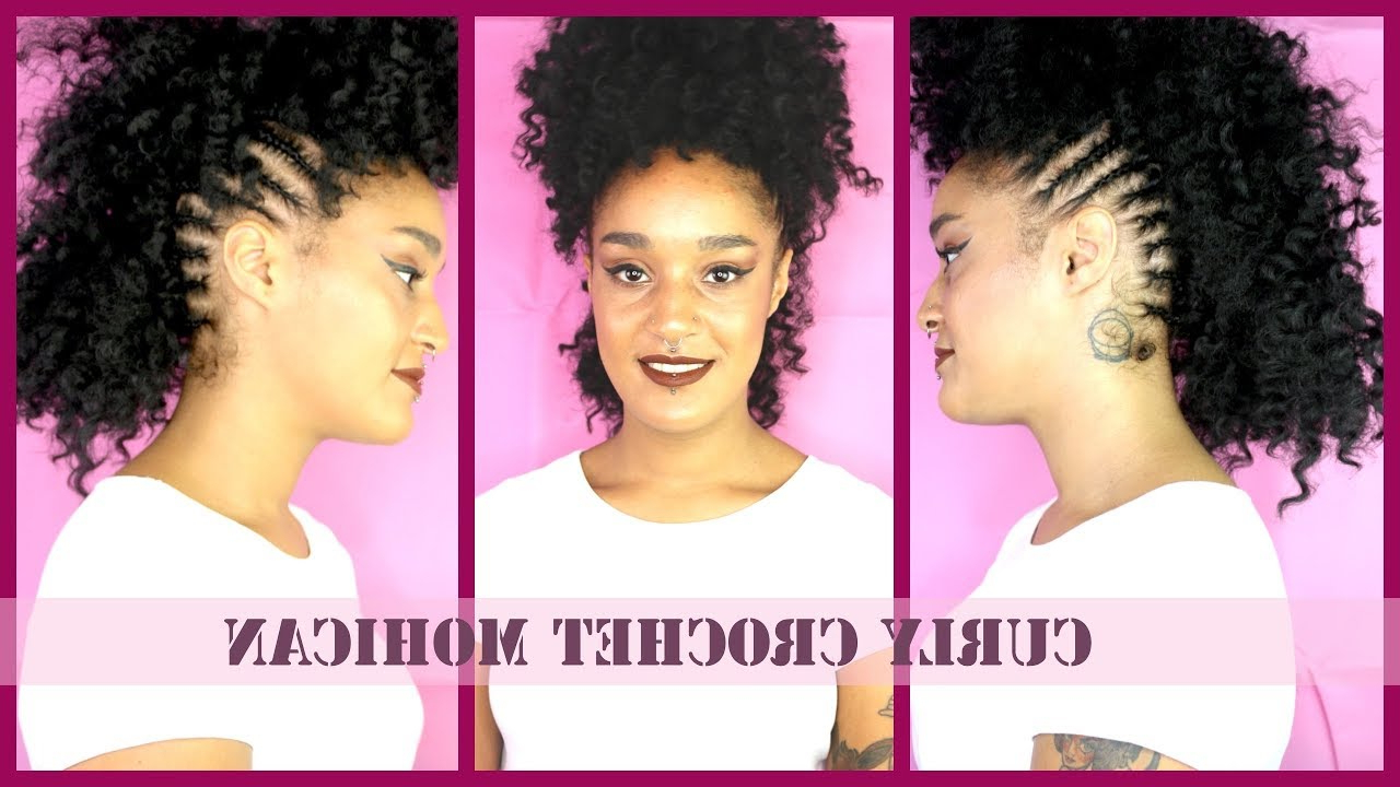 Well Known Curly Beach Mohawk Hairstyles For Mohawk Kinky Curly Crochet Braids! (the Quickest And Easiest!) Ll Ft (View 14 of 20)