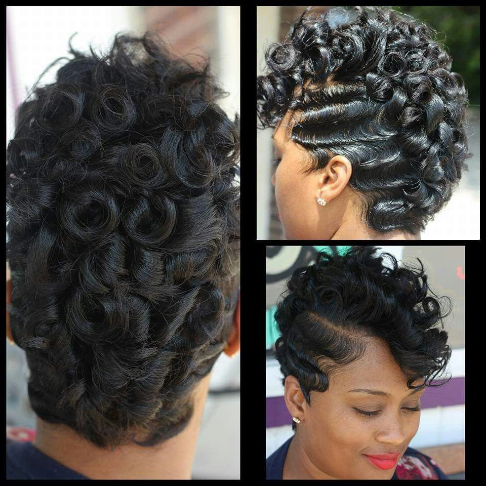 Well Known Mohawk Haircuts On Curls With Parting Pertaining To Waves And Pin Curlskiastylez In (View 2 of 20)