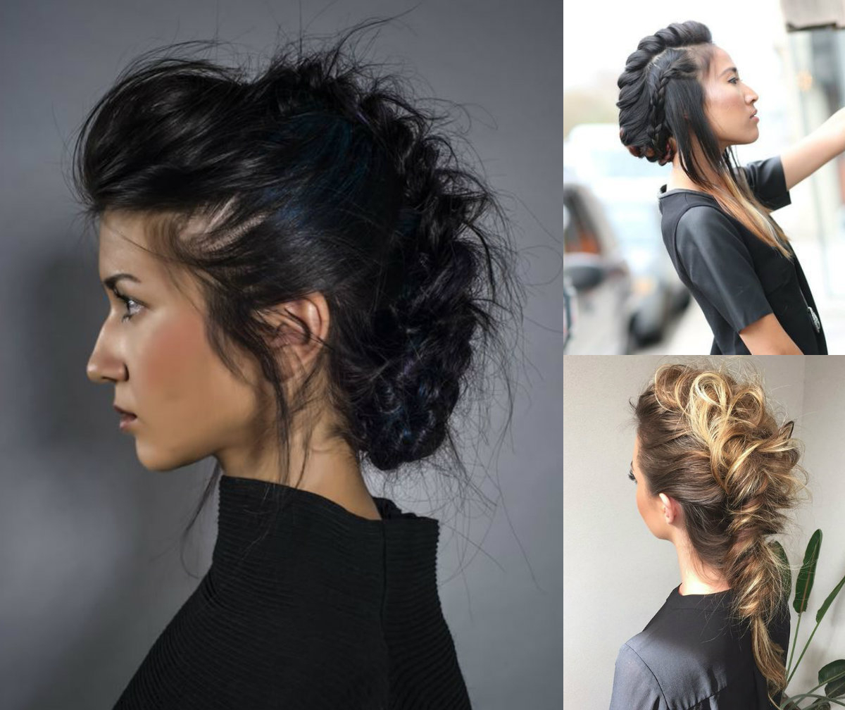 Well Known Mohawk Hairstyles With Pulled Up Sides Within Expressive Women Braided Mohawk Hairstyles (View 20 of 20)