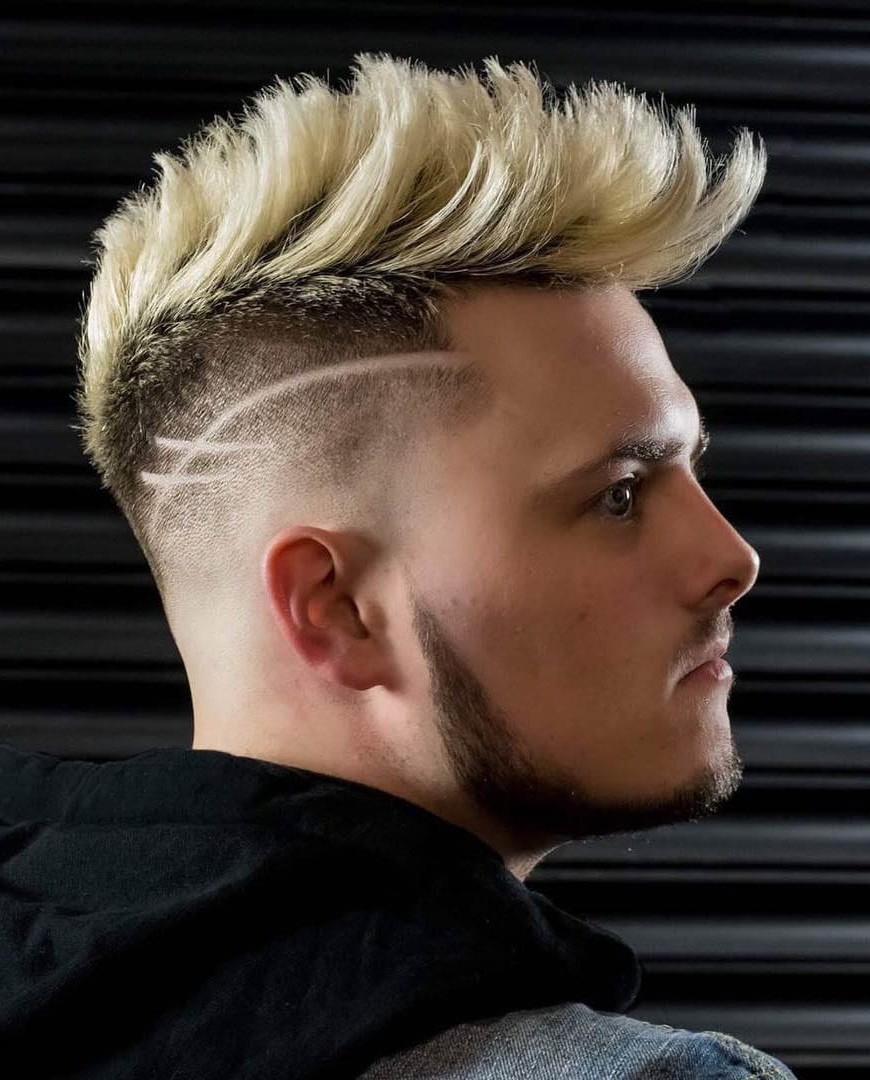Well Known Shaved And Colored Mohawk Haircuts Inside 20 Modern Faux Hawk (Aka (View 17 of 20)