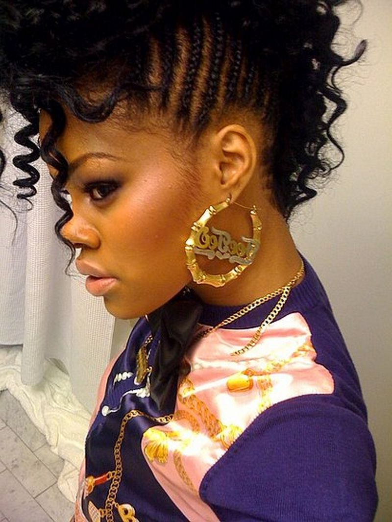 Well Liked Cassie Roll Mohawk Hairstyles Within Mohawk Hairstyles For Black Women : Curly Mohawk Hairstyles (View 3 of 20)