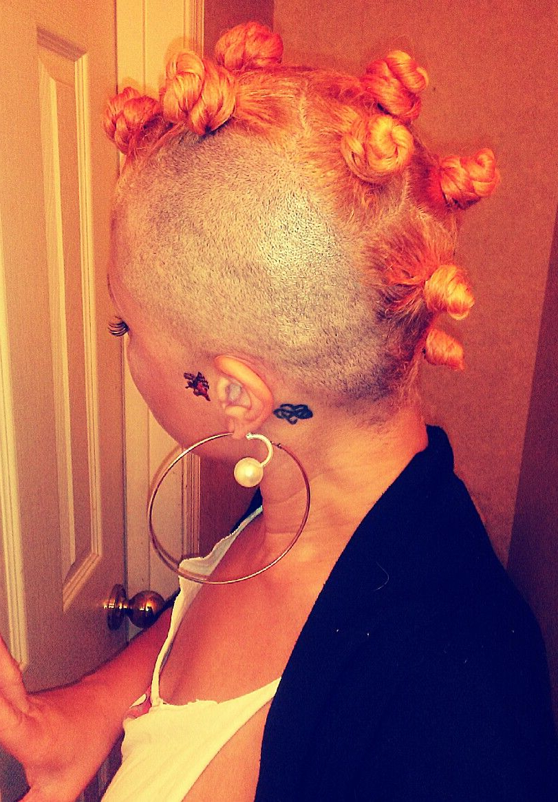 Widely Used Braided Bantu Knots Mohawk Hairstyles With Regard To Citrus Orange Mohawk Bantu Knots #shannaanise (View 16 of 20)
