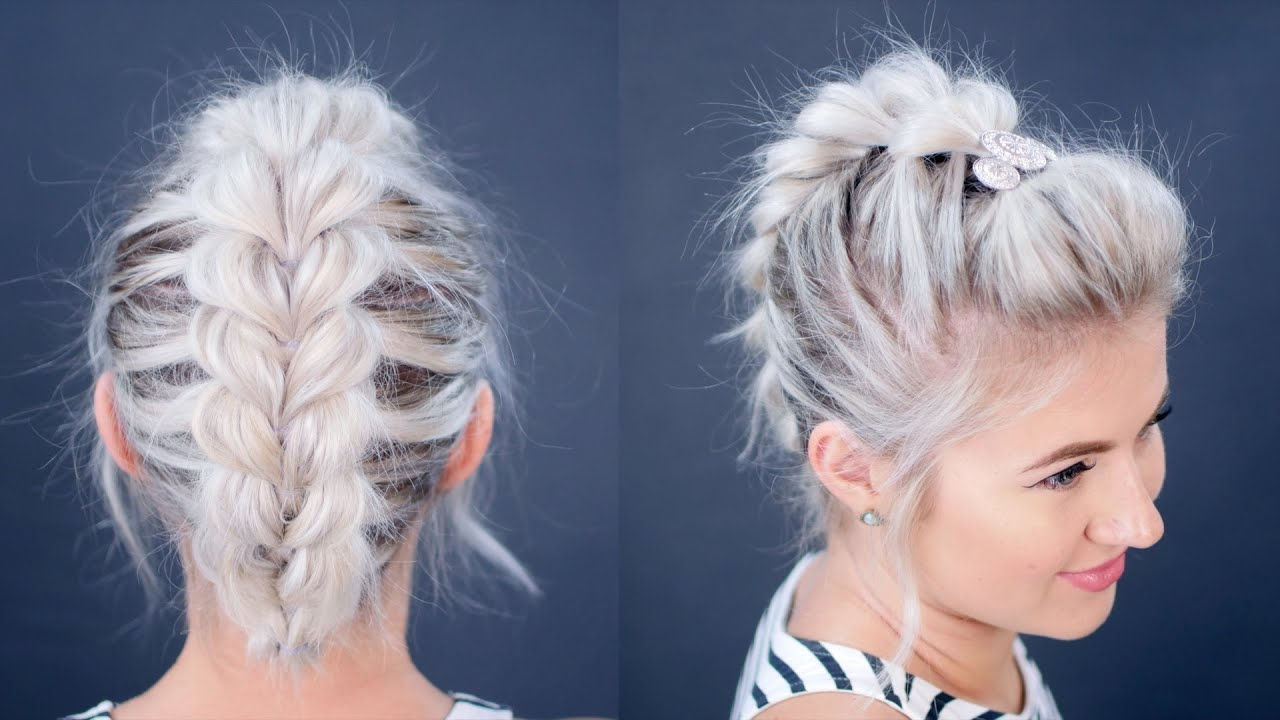 Widely Used Braided Faux Mohawk Hairstyles For Women Intended For How To: Pull Through Braid Short Hair Tutorial (Gallery 10 of 20)