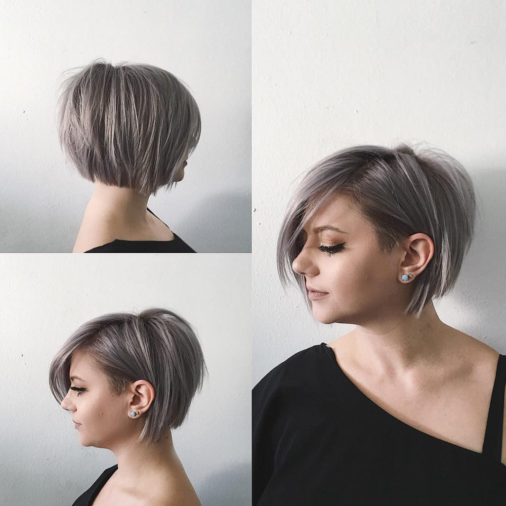 Women's Undone Voluminous Silver Bob With Clean Lines And With Regard To Voluminous Short Bob Haircuts (Gallery 13 of 20)