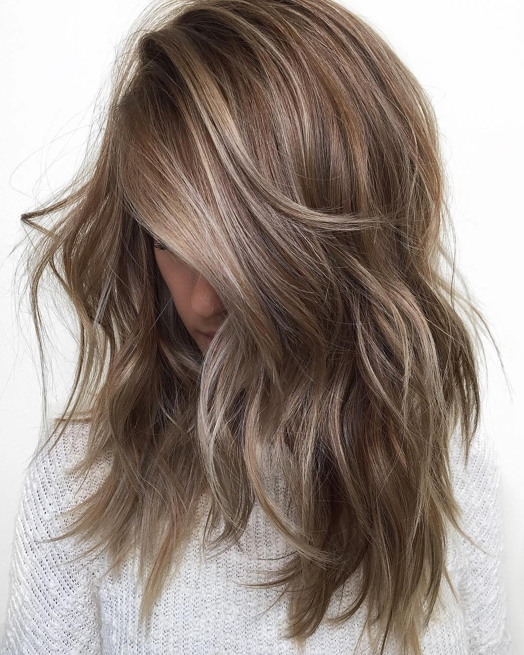 10 Balayage Ombre Hair Styles For Shoulder Length Hair Pertaining To Current Medium Loose Chocolate Shag Haircuts (View 1 of 20)