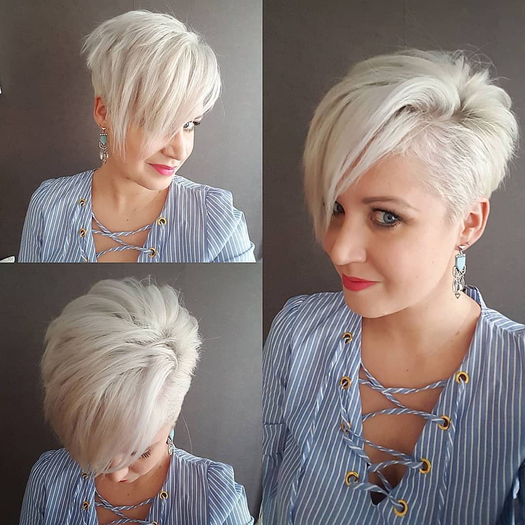 10 Cute Short Haircuts For Women Wanting A Smart New Image Throughout 2017 Sliced Platinum Blonde Bob Hairstyles (View 1 of 20)